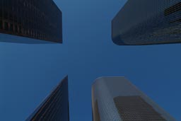 LA, skyscrapers.