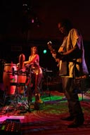 Larry Mitchell guitar and Monette Marino Keita percussion.
