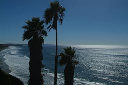 California, blue sky, blue sea.