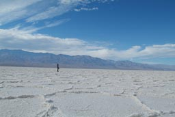On moon in Badwater, DEathvalley.
