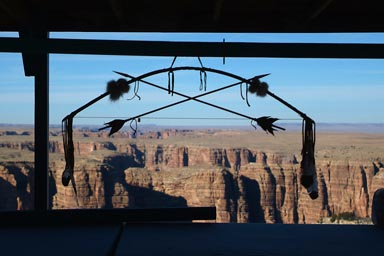 Bow and arrows, Little Colorado gorge in back.