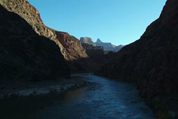 Early morning bottom of Grand Canyon.