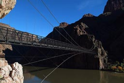 Grand Canyon, suspension bridge.