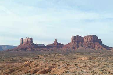 Structures of Monument Valley.