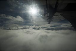 Above the clouds, flight.