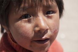 Aymara child, Coipasa, Bolivia.