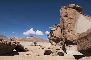Rocks built by wind, Bolivia altiplano.