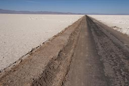 My road on Atacama Salare.