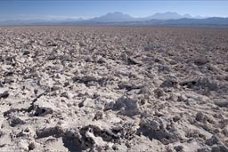 Rough surface of Atacama salt field.