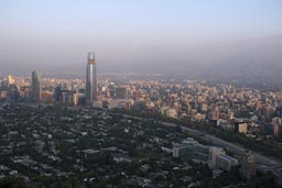 Gran Torre Costanera in Santiago de Chile skyline.