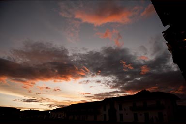 Villa de Leyva, night colors.