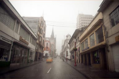 Manizales when hell breaks loose. Thunderstorm, Colombia.