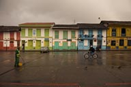 Salento, Colombia, colorful, painted houses.
