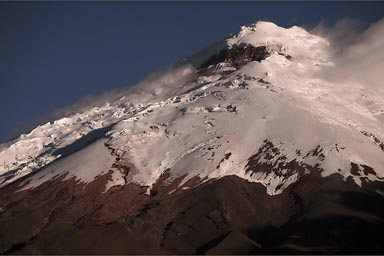 Glacier on top, Cotopaxi.