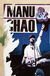 Manu Chao poster on wall in Cuenca.