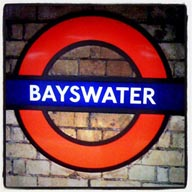 London Tube, Bayswater station.