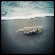 Message in a bottle.