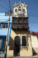 Narrow, 2 storey building, Chiclayo, Peru.