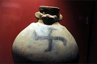 Black swastika on Sipan pot.