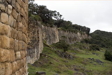 Spectacular fortress on 3000m, 600m of a defensive structure, walls of 19m of hight. Kuelap, Chachapoyas, Amazonas, Peru