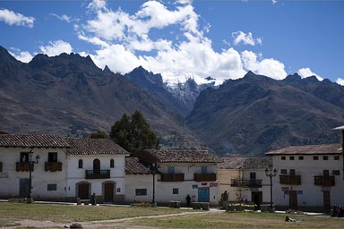 From Chacas 3,400m, view on Cordillera Blancas mountains, Peru.