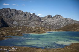 When will this lake be gone in order to dig  the metal, Cordillera Blanca mountains, Peru.