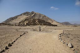 Caral, pyramid, mount, stela, Peru 3,800 to 5,000 years old, archaeological site.