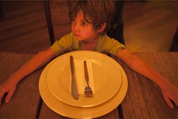 David and empty plate, Lima, Barrancos, Pizza place.