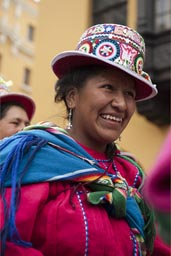 Woman from Puno, Lima Independence Day in Peru.