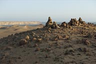 Stones and rocks, a hamada desert, Paracas National Reserve, Peru.