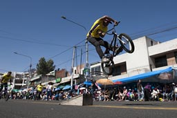 A little BMX show on Arequipa Day.