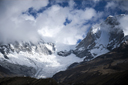 Glacier between Chopicalqui and Huascaran, Cordillera Blanca, Peru.